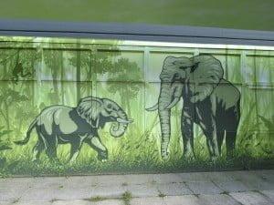 elephant, wall art, wall