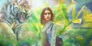 wonderland, tiger, girl