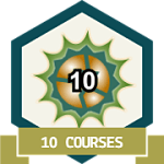 10 Courses Completed