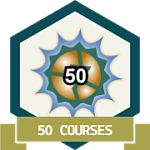 50 Courses Completed